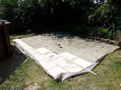 Astro robot realisation d 39 une terrasse en dalle sur lit de sable - Terrasse dalle sur sable ...